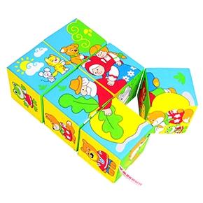"Игрушка кубики ""Мякиши"" (Сказки в картинках) (6 кубиков) (Арт. 350)"