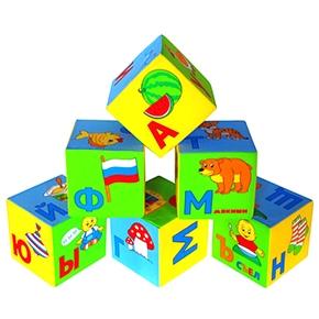"Игрушка кубики ""Мякиши""(Азбука в картинках) (6 кубиков) (Арт. 207"