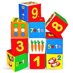 "Игрушка кубики ""Мякиши""(Умная математика) (10 кубиков) (Арт. 177)"