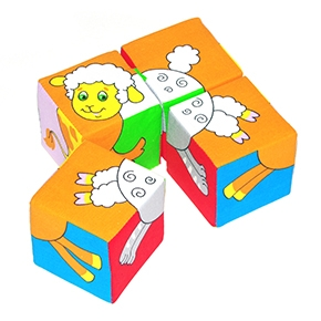 "Игрушка кубики ""Собери картинку"" (Животные-2) (Арт. 236)"