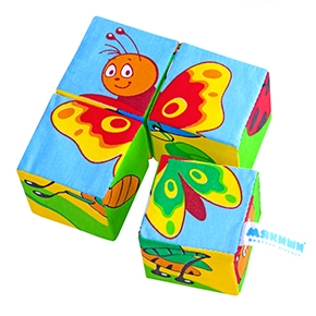 "Игрушка кубики ""Собери картинку"" (Насекомые) (Арт. 238)"