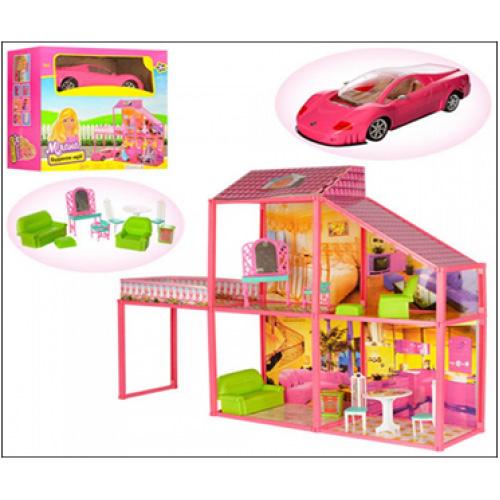 Дом для куклы My Lovely Villa №6981  с машиной