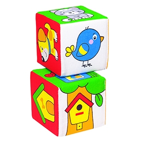 "Игрушка кубики ""Мякиши"" (Чей домик?) (Арт. 111)"