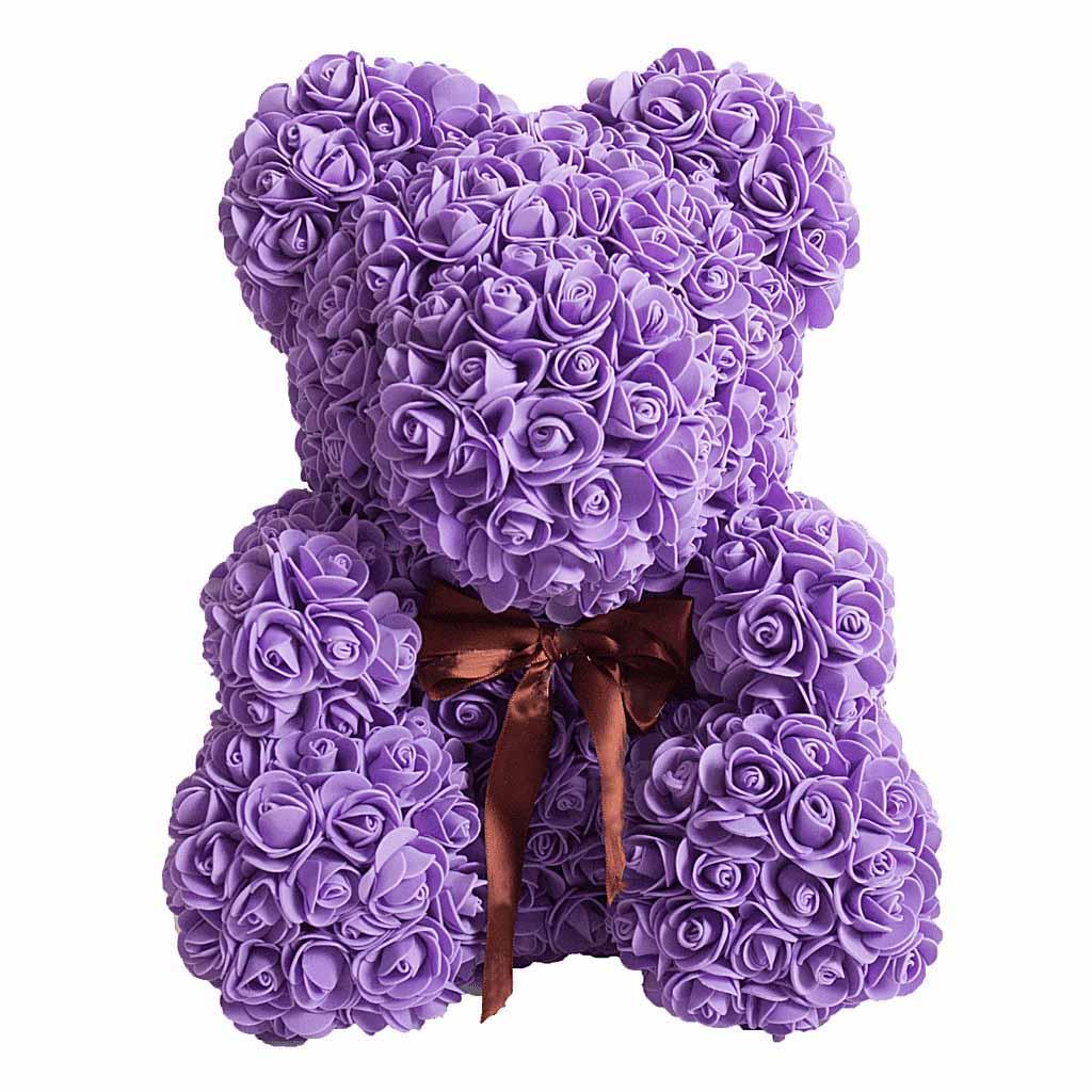 Медведь из цветов 25 см
