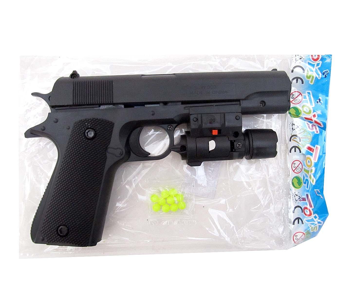 Пистолет с пульками W003-2