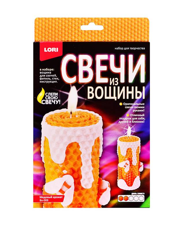 """Свечи из вощины """"Медовый аромат""""Вн-008"""