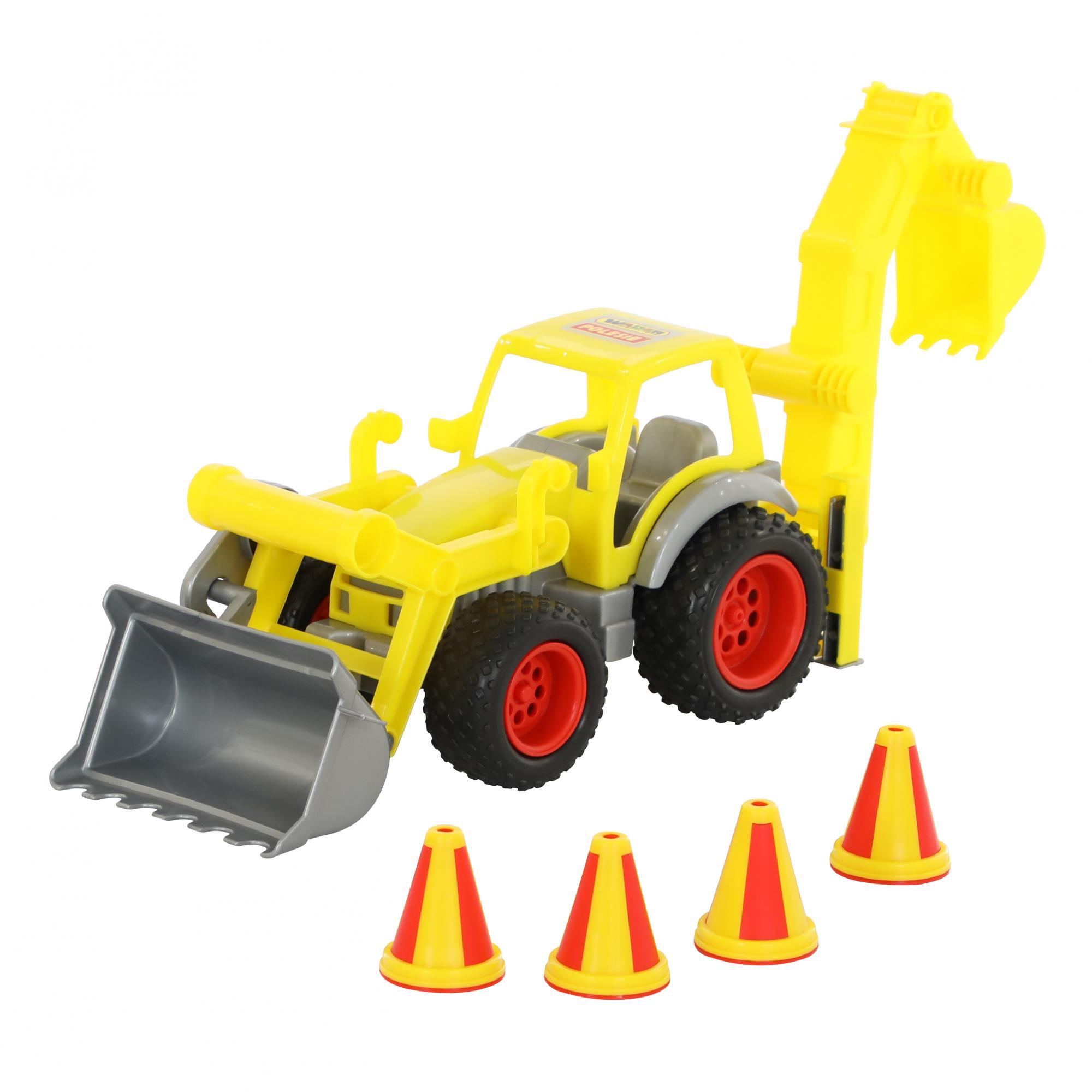 """КонсТрак"""", трактор-погрузчик с ковшом (в сеточке)0377"""
