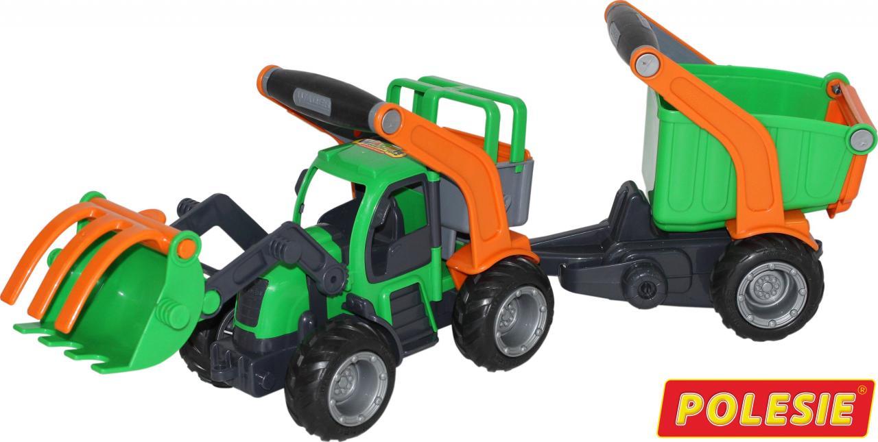 """ГрипТрак"""", трактор-погрузчик с полуприцепом (в сеточке)48431"""