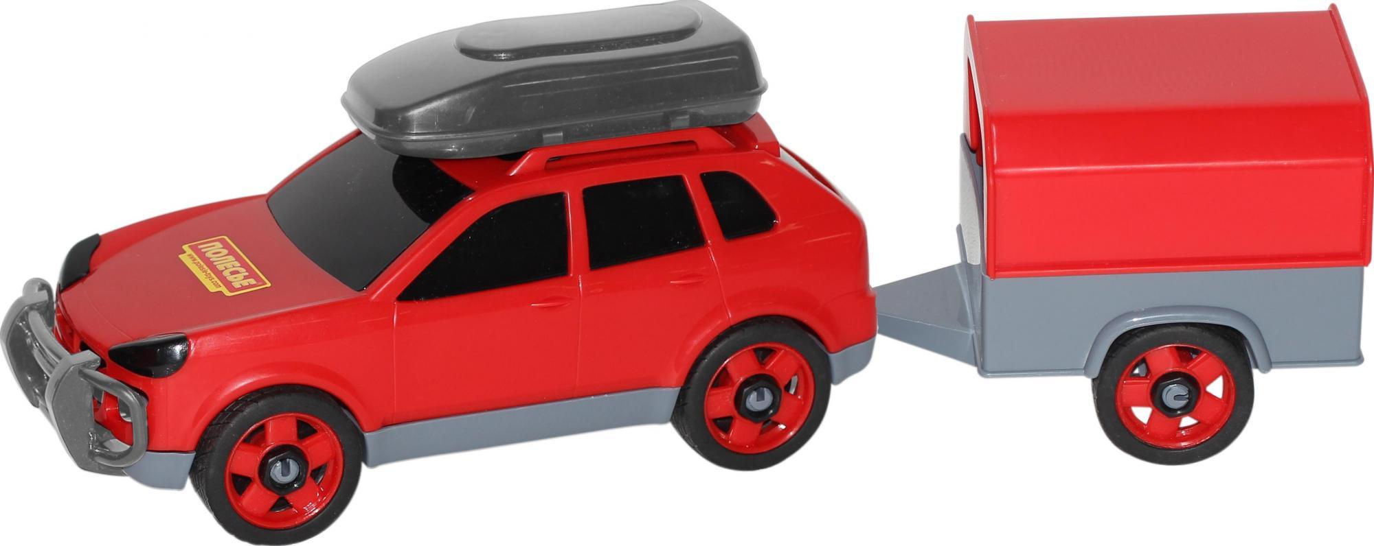 Автомобиль легковой с прицепом (в сеточке) 53688