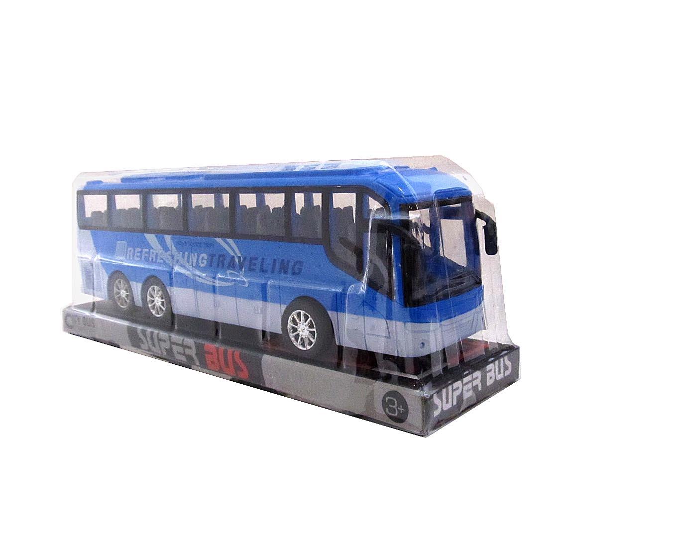 Автобус №828-А2 инерционный/колпак/34*9*12