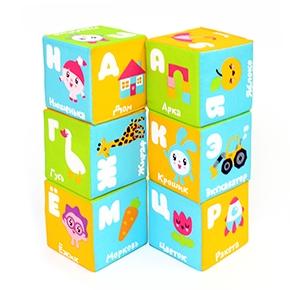 "Игрушка кубики ""Малышарики"" (Азбука) (6 кубиков) (Арт. 399)"