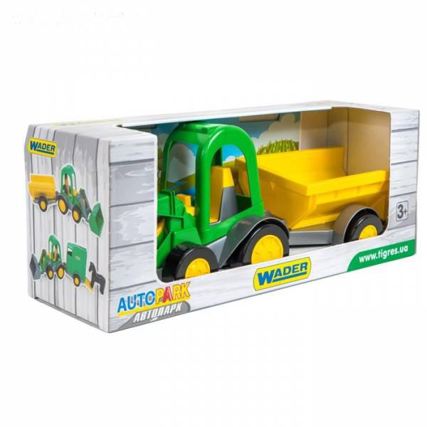 Трактор -багги с ковшом и прицепом в коробке 39349