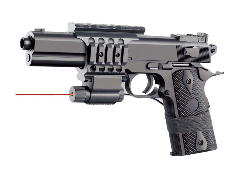Пистолет 25см с лазерным прицелом на бат. в кор. 2123A2-BB