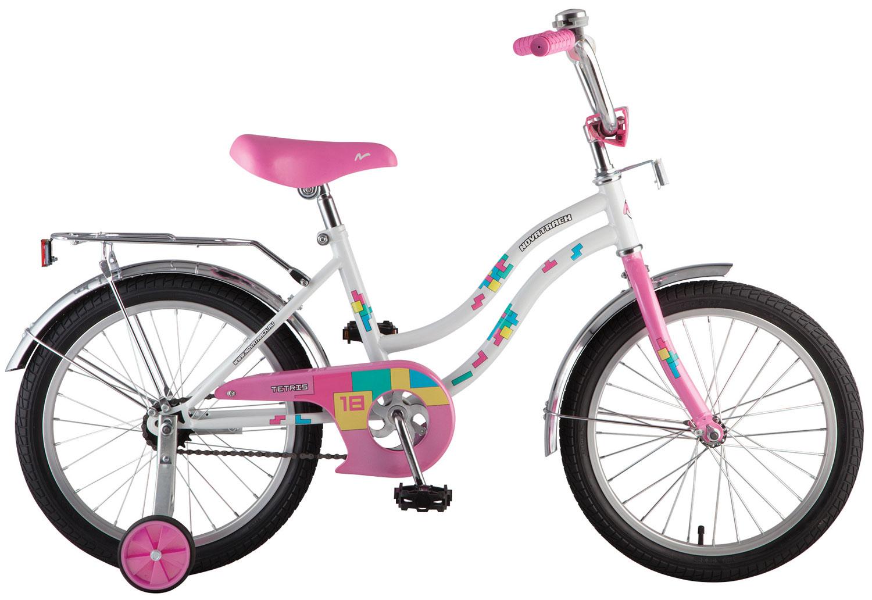 """Велосипед NOVATRACK 16"""", 16563TETRIS, белый , тормоз нож, крылья цвет, багажник хром. #117041"""