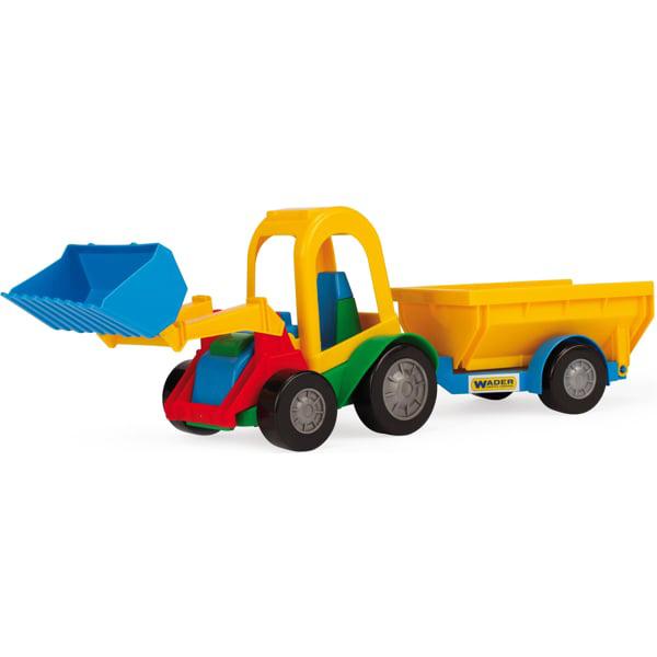 Трактор багги с ковшом и прицепом 39229