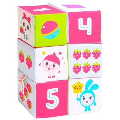 """Игрушка кубики """"Малышарики"""" (Учим формы, цвет, счет) (6 кубиков) (Арт. 400)"""