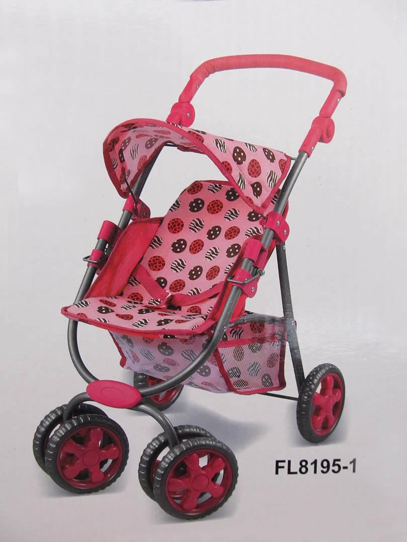 коляска для кукол прогулочная с корзинкой FL8195-1