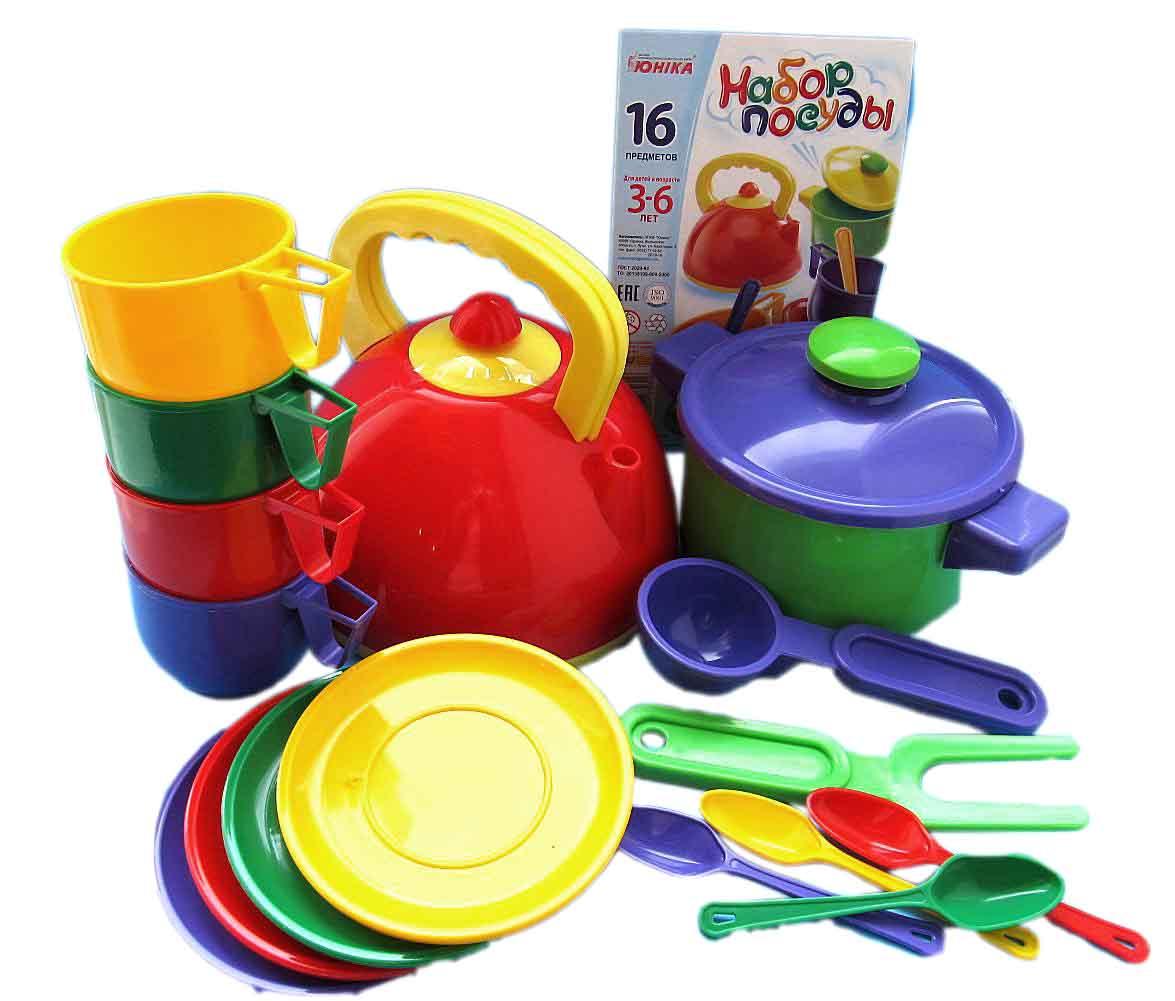Набор  посуды  с кастрюлей (16пред)