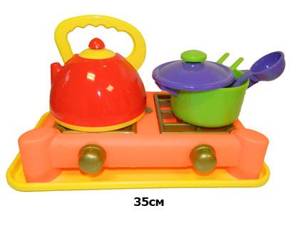 Набор  посуды  с газовой плитой (6 пред)