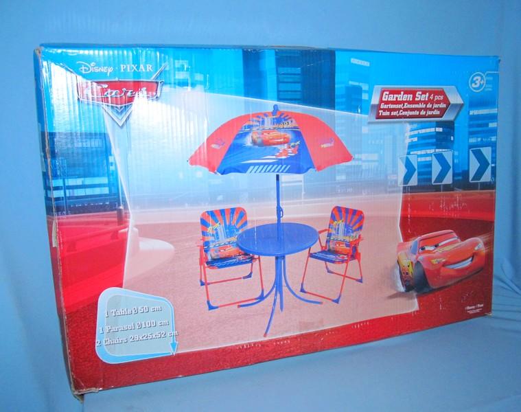 Летний набор стол +2стула B18353 Тачки/Принцессы 2в.кор.ш.к./2/