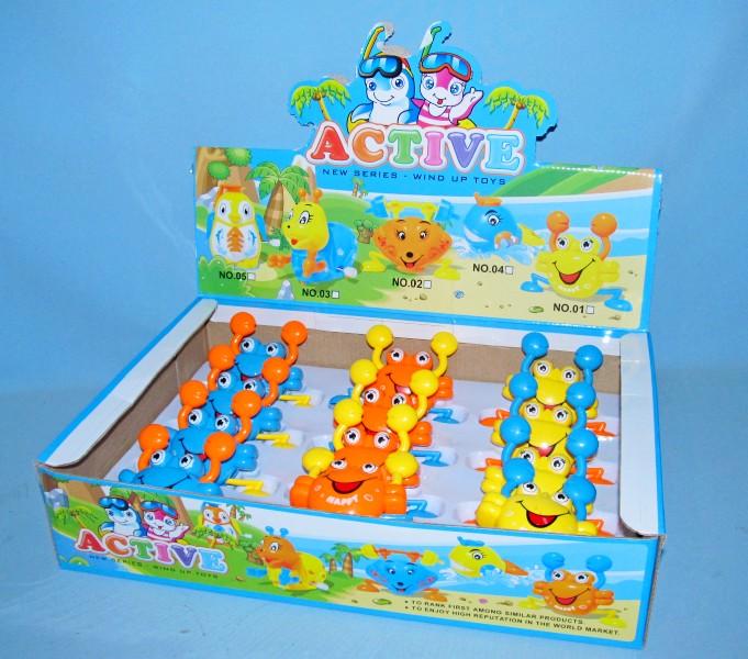 Заводная игрушка 01 (20шт) крабики, 12 шт в дисплее, 39-26-8,5см