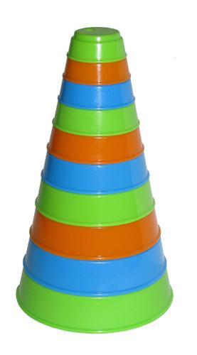 Занимательная пирамидка (10 элем.), h=175 мм 35042