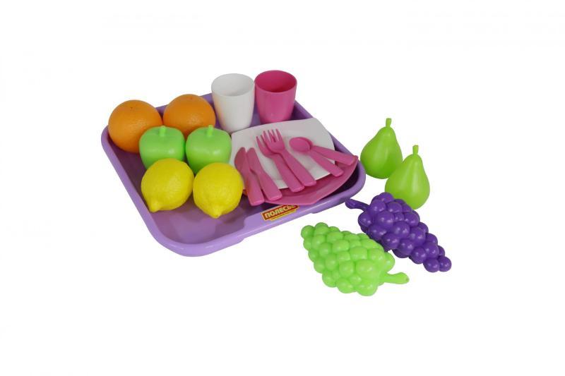 Набор продуктов №2 с посудкой и подносом (21 элемент) (в сеточке) 46970