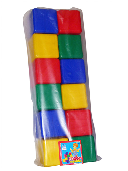Набор Кубики XL 12 деталей