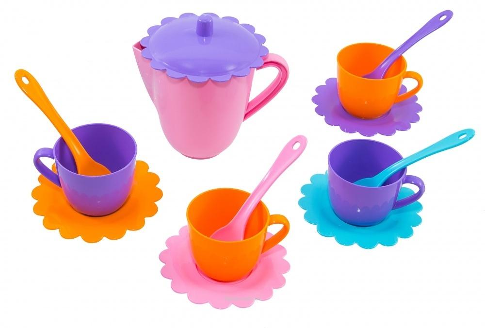 Набор посуды 39085 Ромашка на 4 перс.с сахарн.ЛЮКС