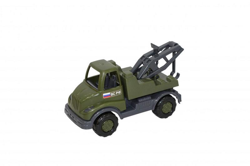 Кнопик автомобиль-эвакуатор военный 52049