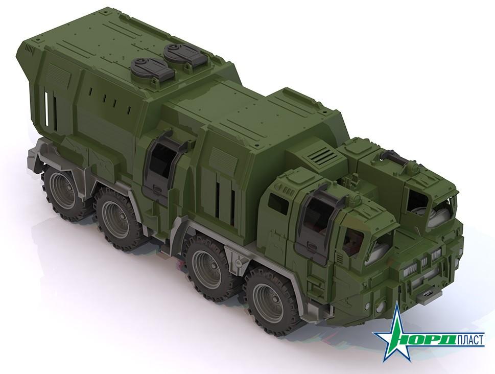 """Военный тягач """"Щит"""" с кунгом 257"""
