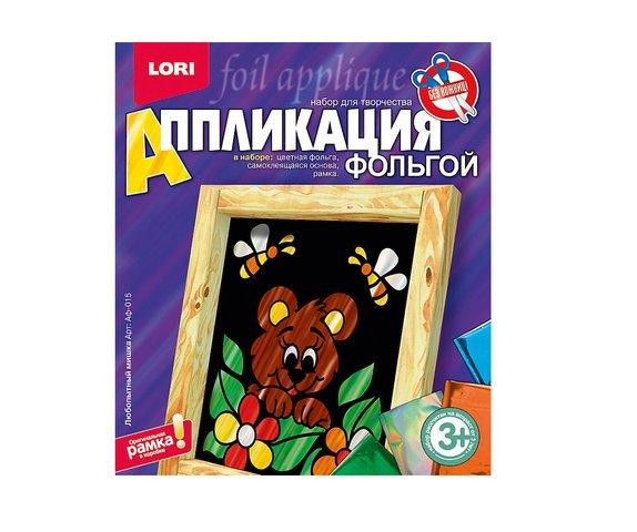 """Аппликация из фольги """"Любопытный мишка"""" Аф-015"""