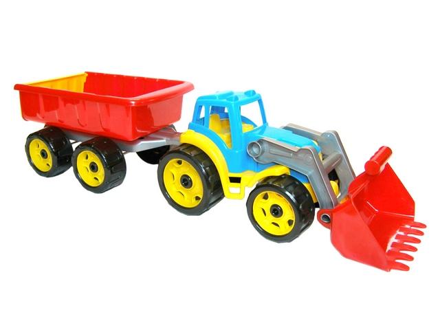Трактор с ковшом и прицепом 3688 ТехноК