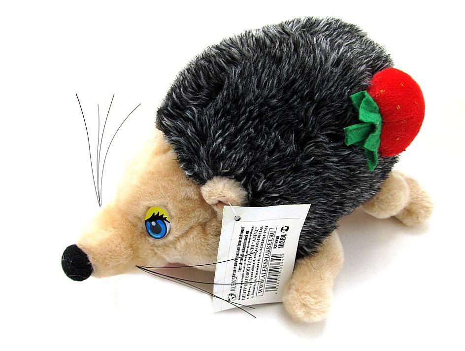 Мягкая игрушка Музыкальный Ёжик с клубничкой 3цвета, Размер 25см, Искусствен.мех 10364
