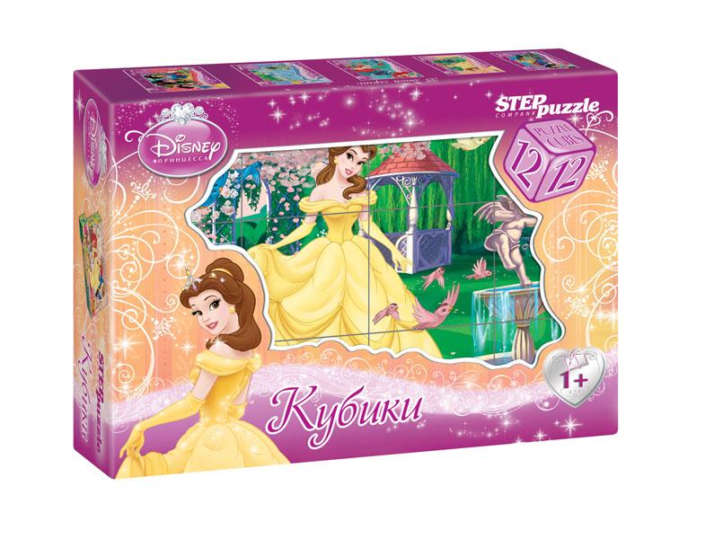 "12 кубиков ""Белль"" (картон) (Disney) 87151"