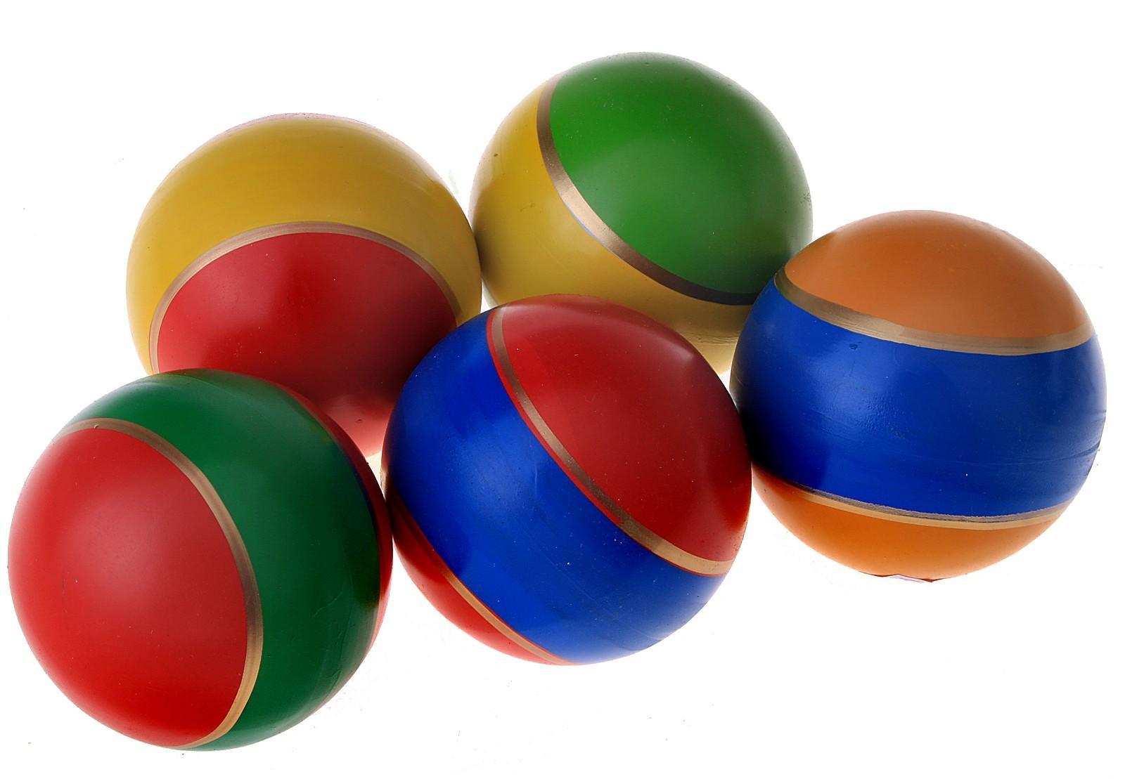 Мяч д. 75мм лакир.с-19ЛП (полоса), арт. с-19ЛП