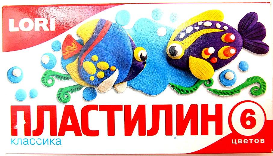 Пластилин Классика, 6 цветов, 20 гр., без европодвесаПл-005