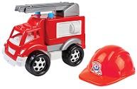 Набор Пожарная машина, каска, в сетке 3978