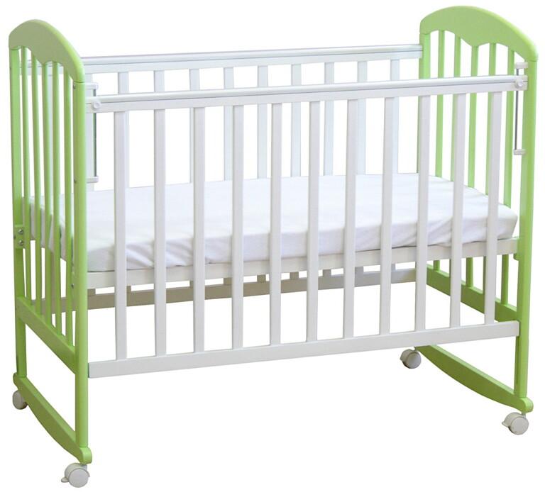 Кроватка детская Фея 323 Белый-Мята