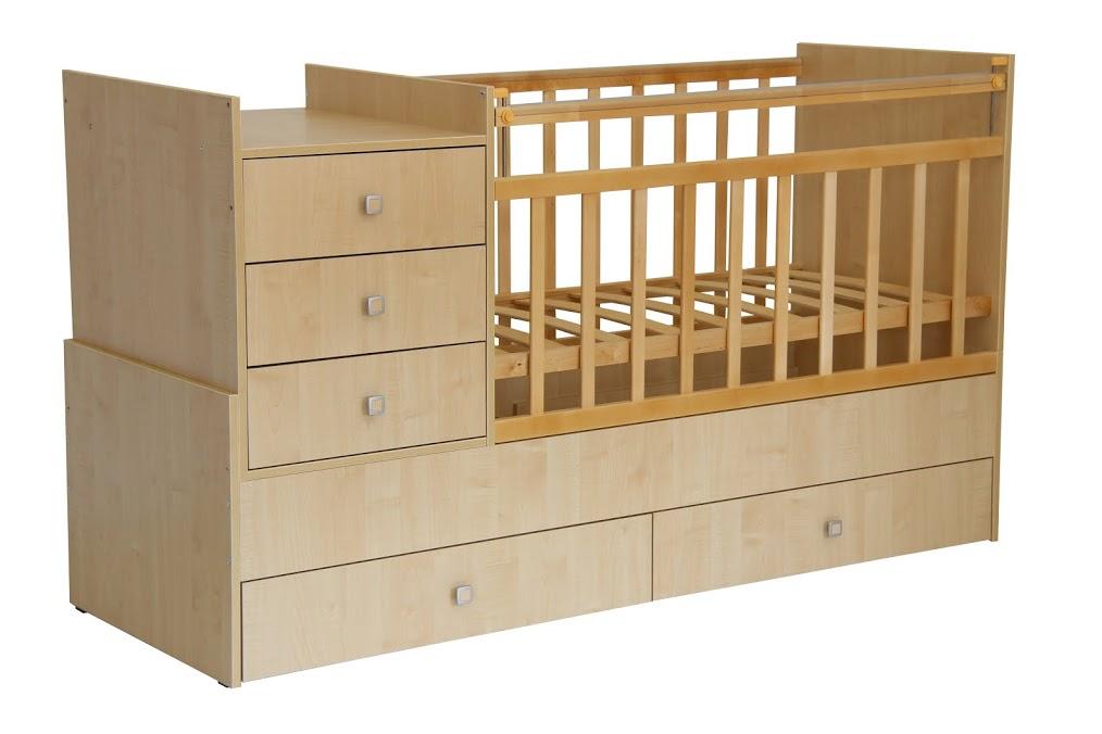 Кроватка детская Фея  1100 клён