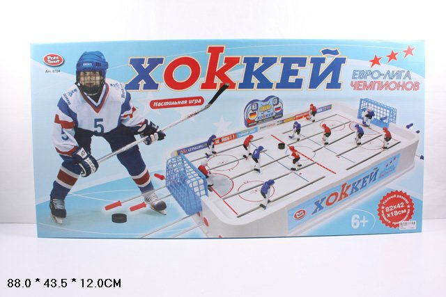 """Хоккей   0704 ( 6шт)""""Евро-лига чемпионов""""в кор. 88*44*12см 0704"""