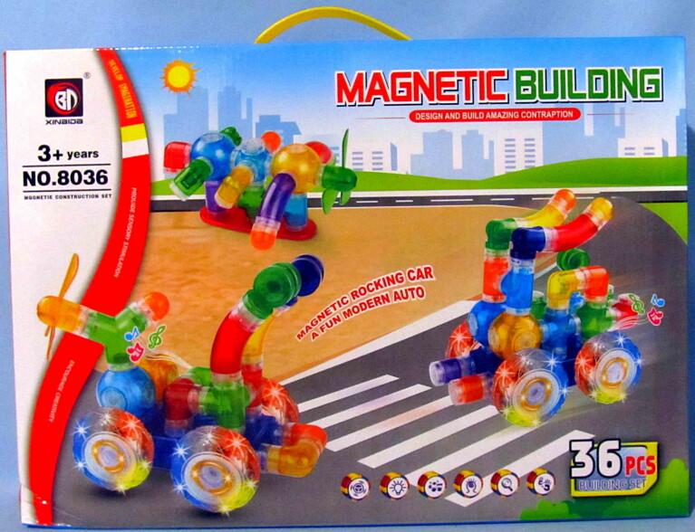 Конструктор magnetic 36 деталей 8036