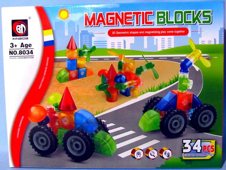 Конструктор magnetic 34 деталей 8034