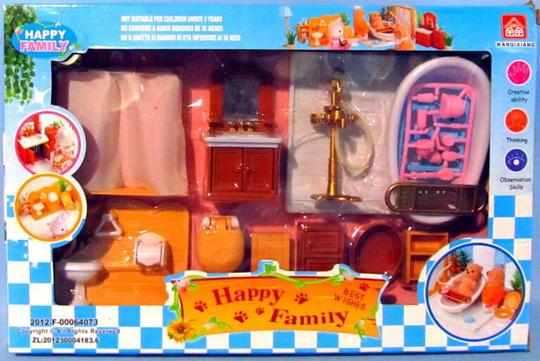 """Счастливая семья """"Набор мебели для ванной"""" 012-07B"""