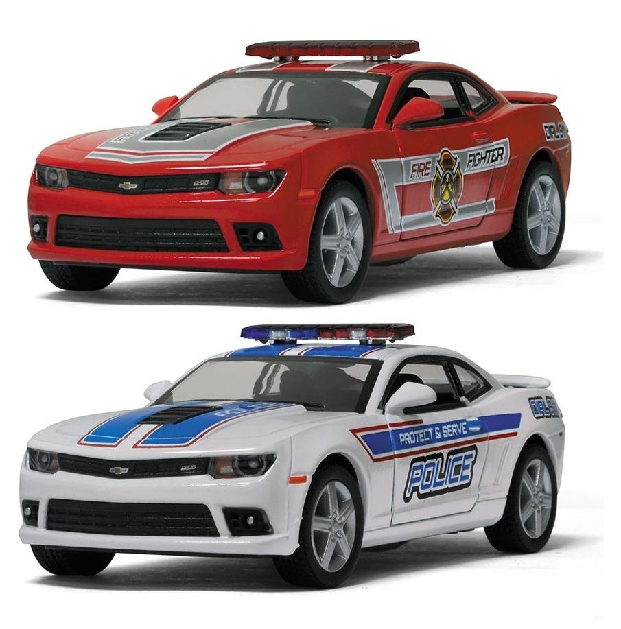 1:38 Chevrolet Camaro 2014 полиция/пожарная БЕЗ КОРОБКИ  5383DPR