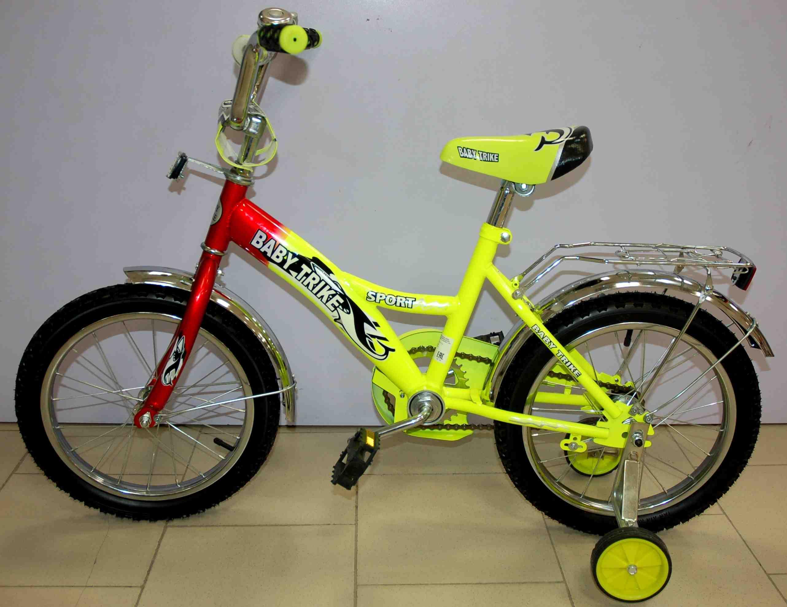 Велосипед 16  1298 ЖЕЛТЫЙ
