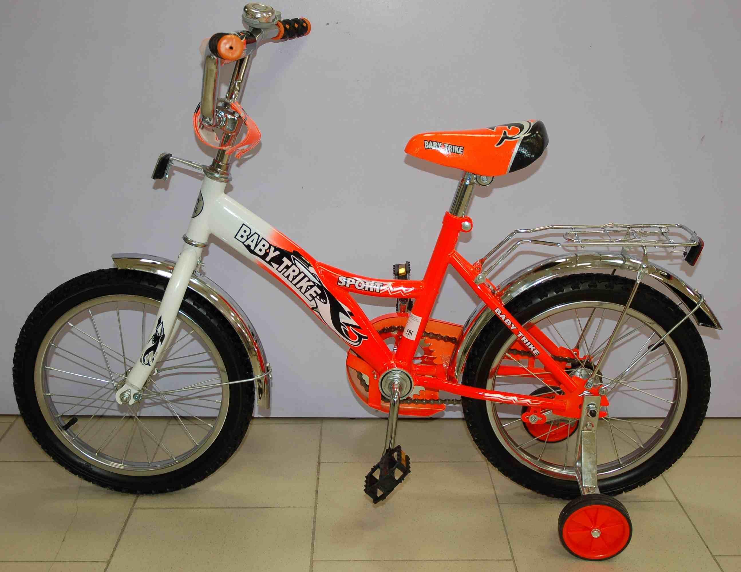Велосипед 16  1298 ОРАНЖЕВЫЙ