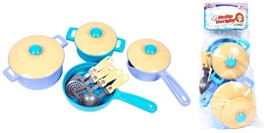 Набор посуды 11 предметов в пакете 4432