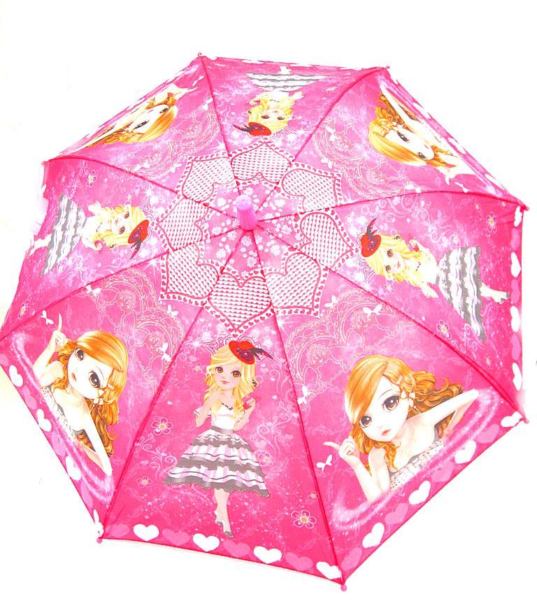 Зонт для девочек полуавтомат, d 45/8 спиц, №278-274