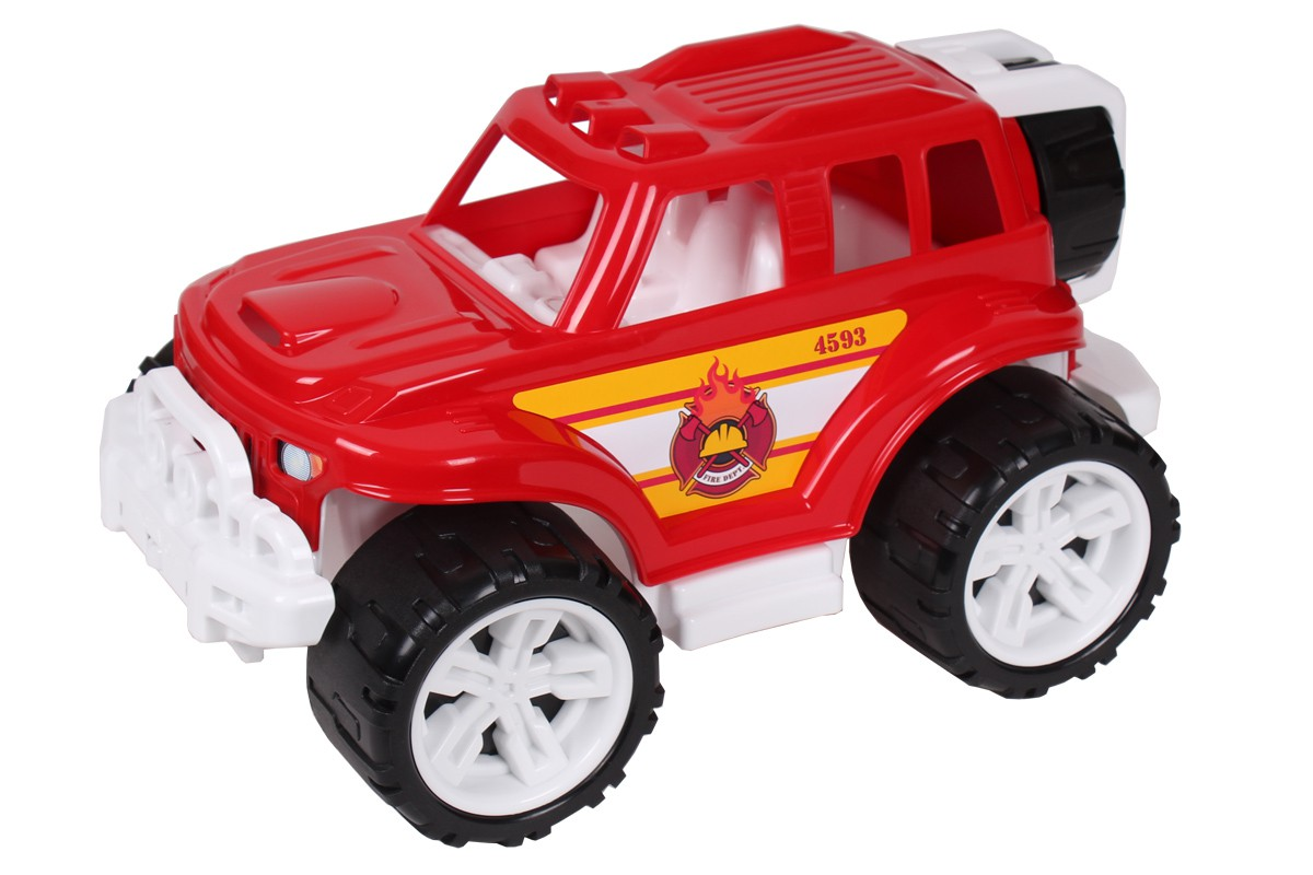 Машина  Внедорожник Пожарный с колесом 4593